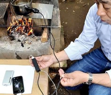شارژ تلفن همراه روی شعله اجاق گاز منزل!