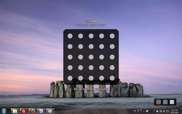 نصب قفل الگویی بر روی رایانه