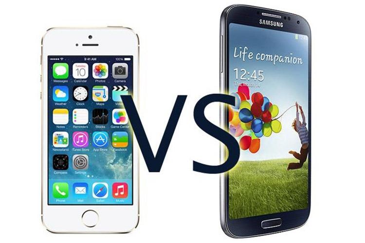 برتریهای Galaxy S4 سامسونگ در مقابل iPhone 5s