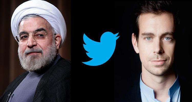 پاسخ توییتری حسن روحانی به بنیانگذار توییتر