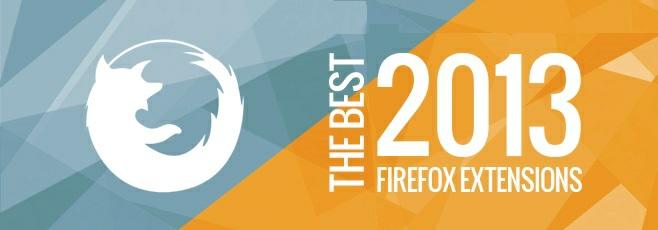 افزونه های برتر فایرفاکس در سال ۲۰۱۳