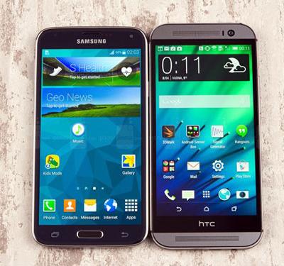 مقایسه سامسونگ Galaxy S5 با HTC One M8