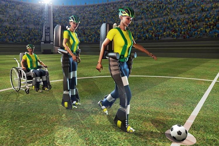 شروع جام جهانی 2014 با ضربه جوان معلول برزیلی با بهرهگیری از پروژهی Walk Again