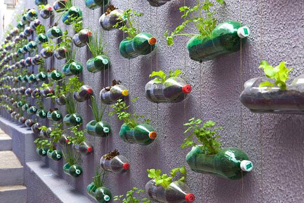 راه های خلاقانه در استفاده مجدد از بطری های پلاستیکی قدیمی