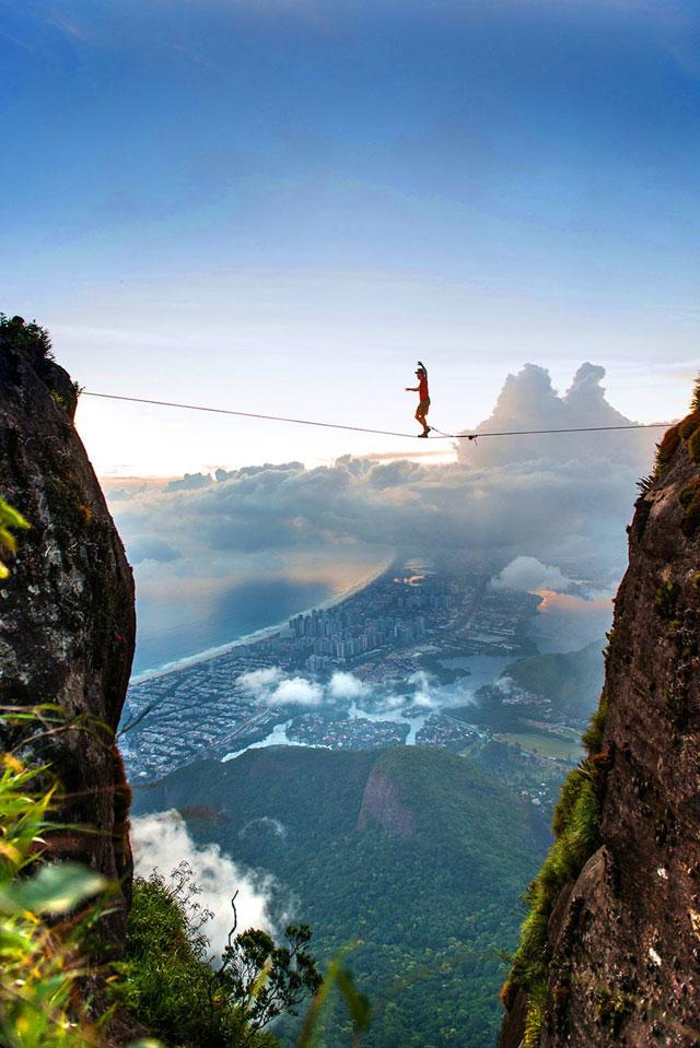 فوتوگرافر : ارتفاعاتی که رفتن به آنها جرات می خواهد !