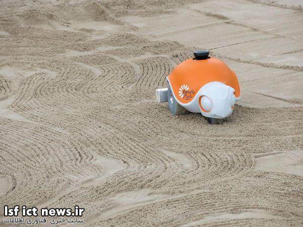 تماشا کنید : نقاشی ربات بیچ بات روی شن ها